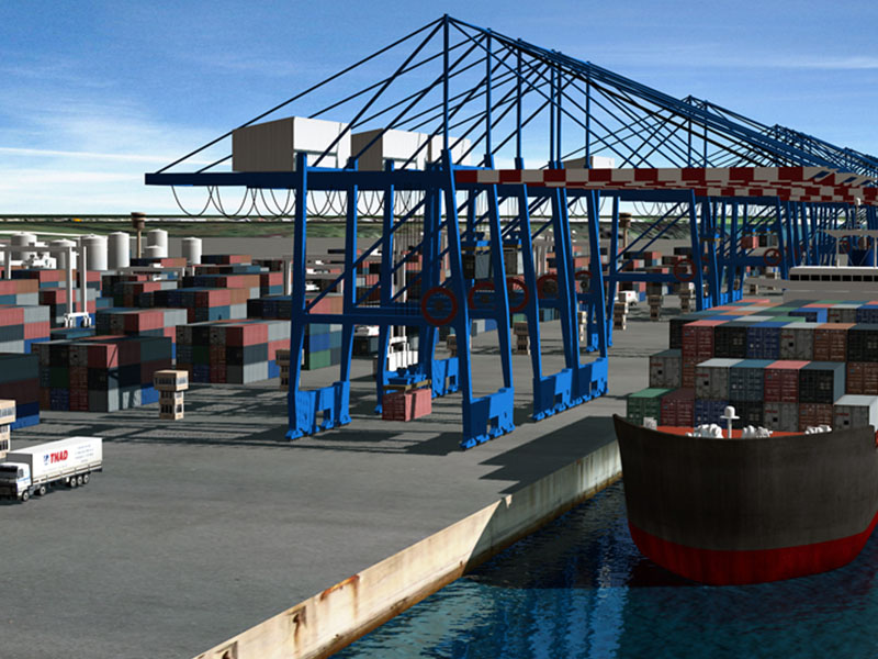 Port of Sydney - CGI and 3D visualization of the future Port of Sydney