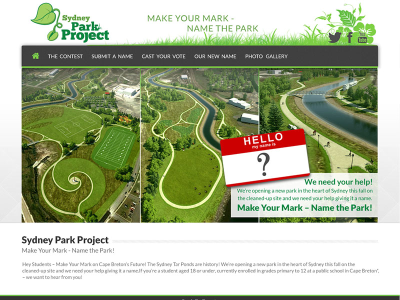 Sydney Tar Ponds Agency - Website strategy, design, programming, SEO